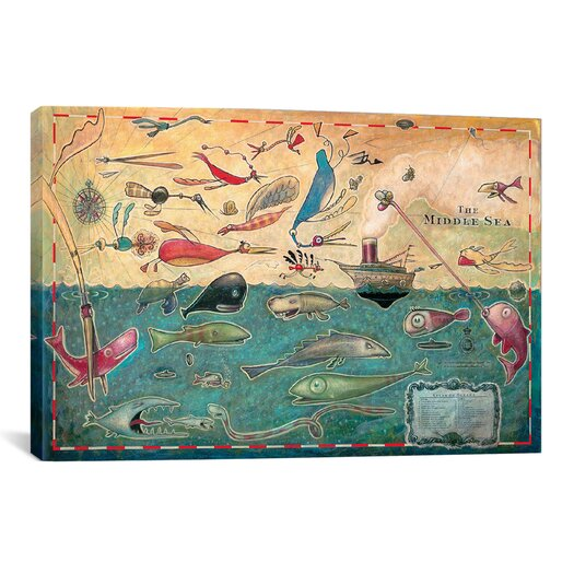 iCanvas 'Middle Sea' by Daniel Peacock Graphic Art on Wrapped Canvas