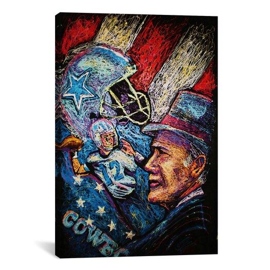 iCanvas Dallas Cowboys 001 Canvas Print Wall Art