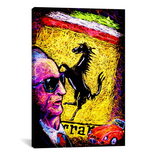 iCanvas Enzo Ferrari Emblem Canvas Print Wall Art