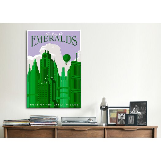 Icanvas emerald city travel by steve thomas graphic art on for Emerald city wall mural