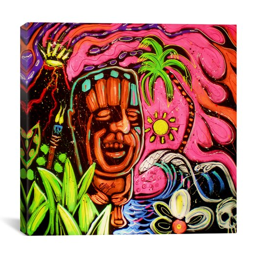 iCanvas John Demaio Tiki 001 by Rock Demarco Painting Print on Wrapped Canvas