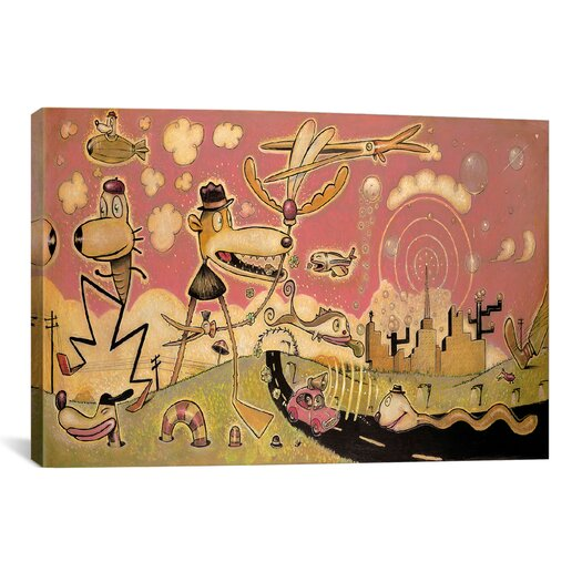 iCanvas 'Funday Morning' by Daniel Peacock Painting Print on Wrapped Canvas