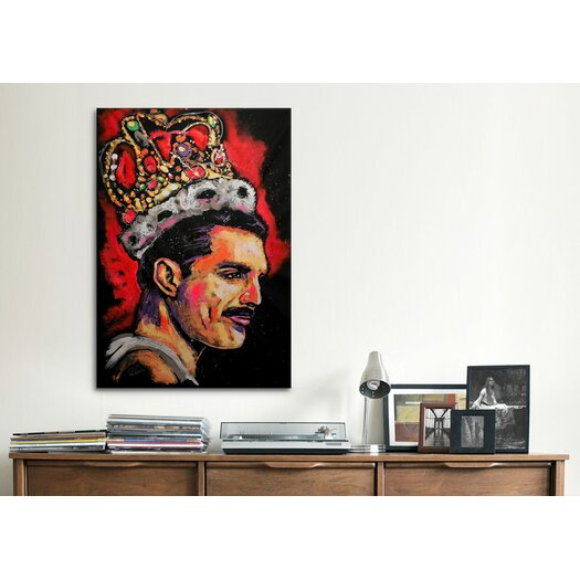 iCanvas Freddie Mercury Painting 002 Canvas Print Wall Art