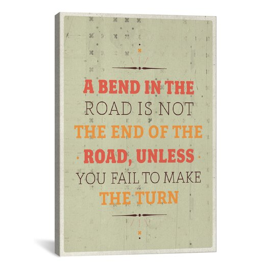iCanvas American Flat A Bend Textual Art on Wrapped Canvas