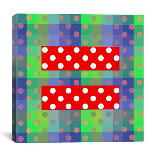 iCanvas Flags Gay Red Equality Sign, Equal Rights Symbol Graphic Art on Wrapped Canvas in Green
