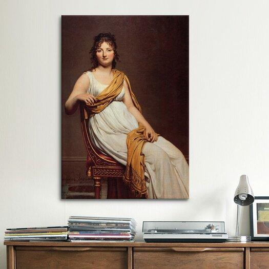 iCanvas 'Madame Raymond De Verninac' by Jacques-Louis David Painting Print on Canvas