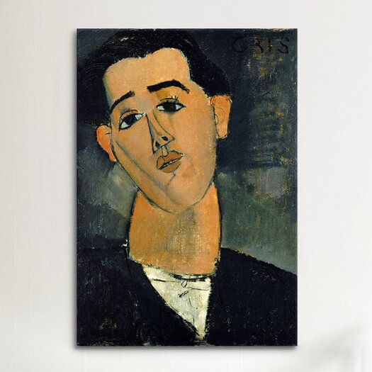 iCanvas Fine Art 'Portrait of Juan Gris' by Amedeo Modigliani Painting Print on Canvas