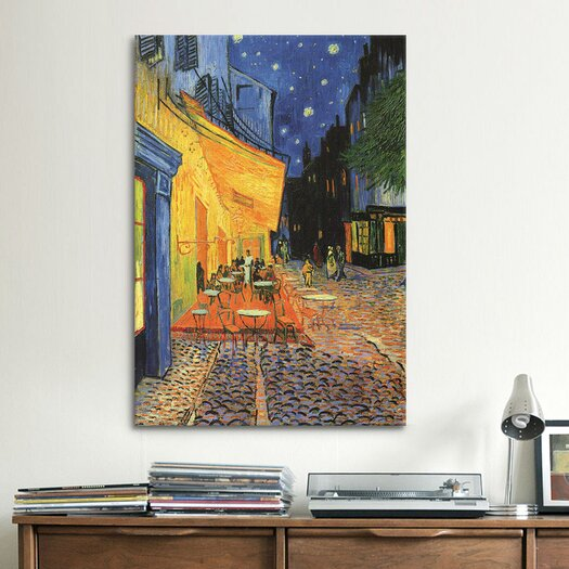 "iCanvas ""The Cafe Terrace on the Place du Forum, Arles, at Night 1888"" by Vincent Van Gogh Painting Print on Canvas"