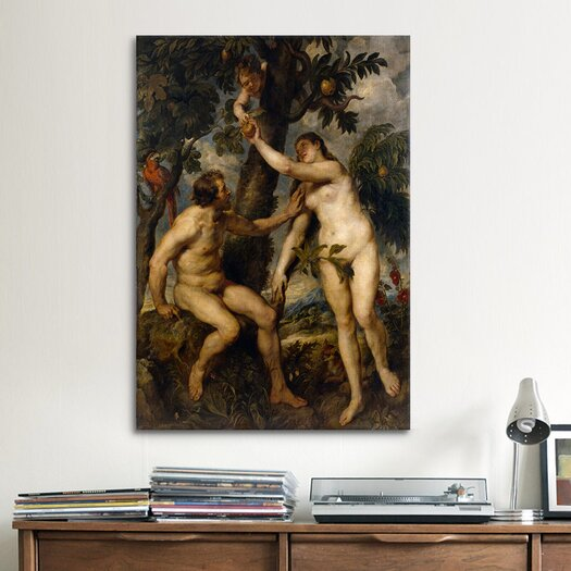 iCanvas 'The Fall of Man' by Peter Paul Rubens Painting Print on Canvas