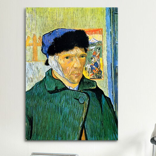 iCanvas 'Self-Portrait with Bandaged Ear' by Vincent Van Gogh Painting Print on Canvas