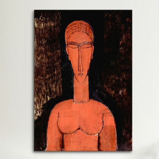 iCanvas 'The Red Bust' by Amedeo Modigliani Painting Print on Canvas