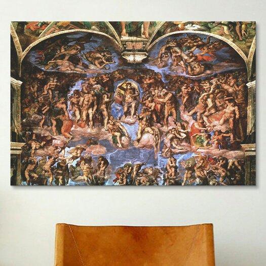 iCanvas 'Sistine Chapel: The Last Judgement' by Michelangelo Buonarroti Painting Print on Canvas