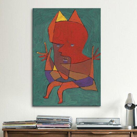 iCanvas 'Figurine Small Fire Devilfigurine Kleiner Furtufel 1927' by Paul Klee Painting Print on Canvas