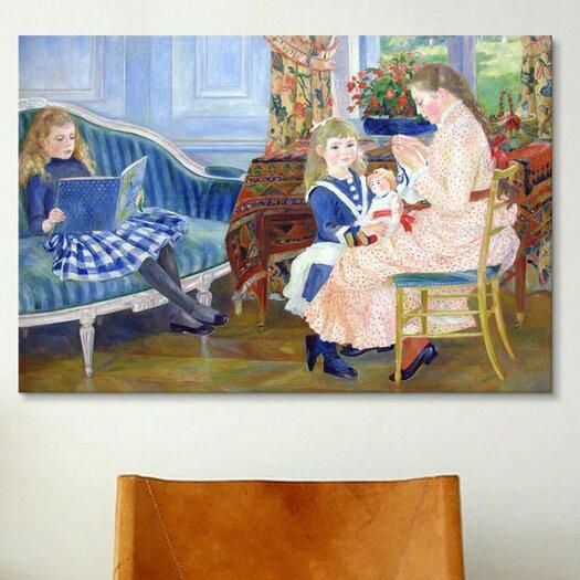 iCanvas 'Der Nachmittag der Kinder in Wargemont' by Pierre-Auguste Renoir Painting Print on Canvas