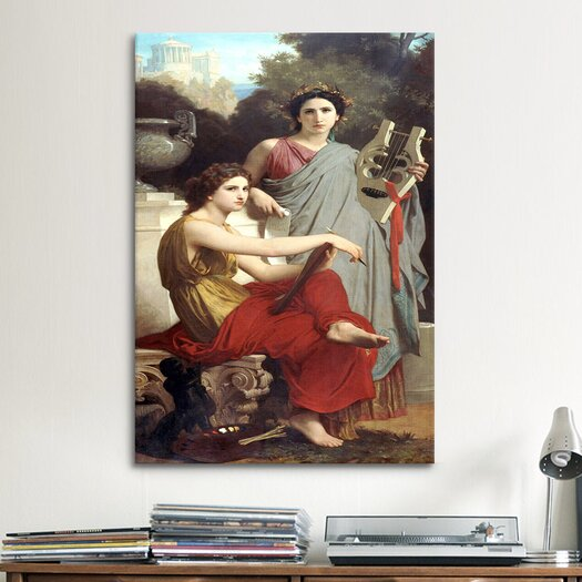 iCanvas 'Art and Literature' by William-Adolphe Bouguereau Painting Print on Canvas