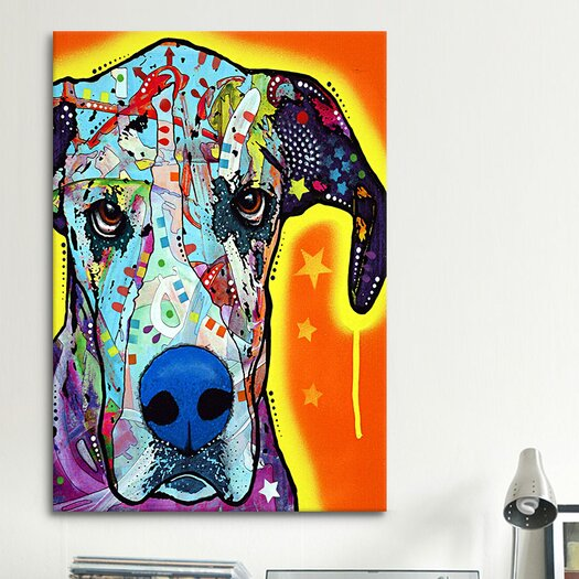 """iCanvas """"Great Dane"""" by Dean Russo Graphic Art on Wrapped Canvas"""