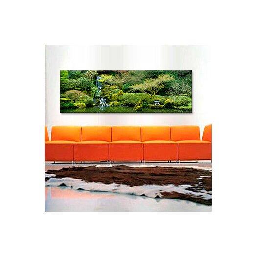 iCanvas Panoramic Waterfall in a Garden, Japanese Garden, Washington Park, Portland, Oregon Photographic Print on Canvas