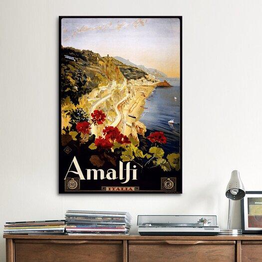 iCanvas Amalfi Italia Vintage Advertisement on Canvas