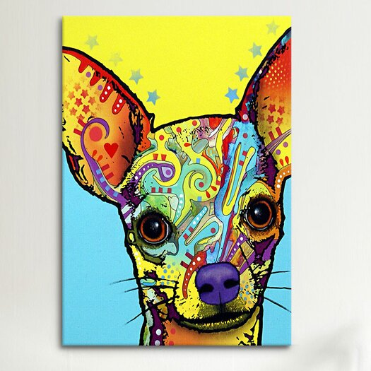 """iCanvas """"Chihuahua l"""" by Dean Russo Graphic Art on Wrapped Canvas"""