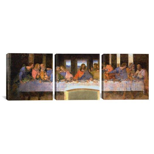 iCanvas Leonardo da Vinci The Last Supper 3 Piece on Wrapped Canvas Set