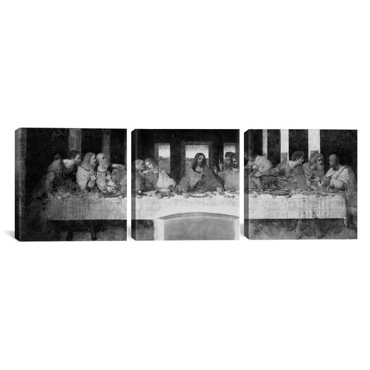 iCanvas Leonardo da Vinci The Last Supper II 3 Piece on Wrapped Canvas Set