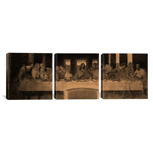 iCanvas The Last Supper IV by Leonardo da Vinci 3 Piece Painting Print on Wrapped Canvas Set