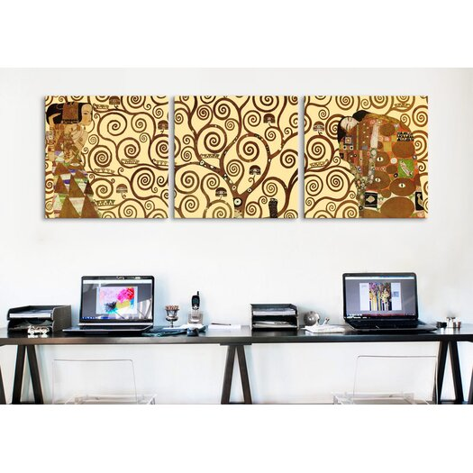 iCanvas Gustav Klimt The Tree of Life 3 Piece on Wrapped Canvas Set