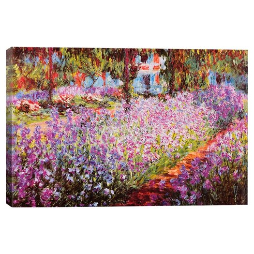 "iCanvas ""Jardin De Giverny"" by Claude Monet Painting Print on Wrapped Canvas"