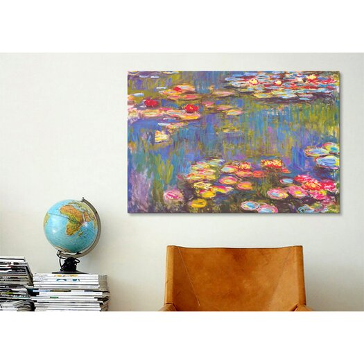"""iCanvas """"Water Lilies, 1916"""" by Claude Monet Painting Print on Canvas"""
