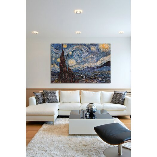 """iCanvas """"The Starry Night"""" by Vincent Van Gogh Painting Print on Canvas"""