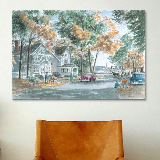 iCanvas 'Autumn on Gwenn Dr' by Stanton Manolakas Painting Print on Canvas