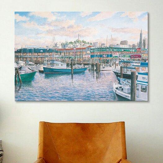 iCanvas 'Fisherman'S Wharf Sunset'  by Stanton Manolakas Painting Print on Canvas