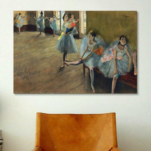 iCanvas 'Dancers' Rail by Edgar Degas Painting Print on Canvas