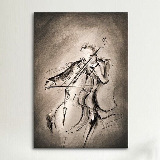 iCanvas 'The Cellist' by Marc Allante Graphic Art on Canvas