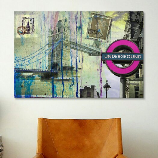 "iCanvas ""London Underground"" Painting Print on Canvas by Luz Graphics"