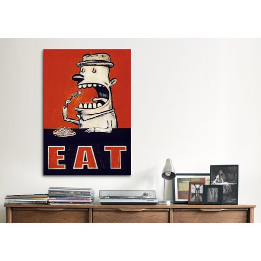 iCanvas 'Eat' by Daniel Peacock Graphic Art on Canvas