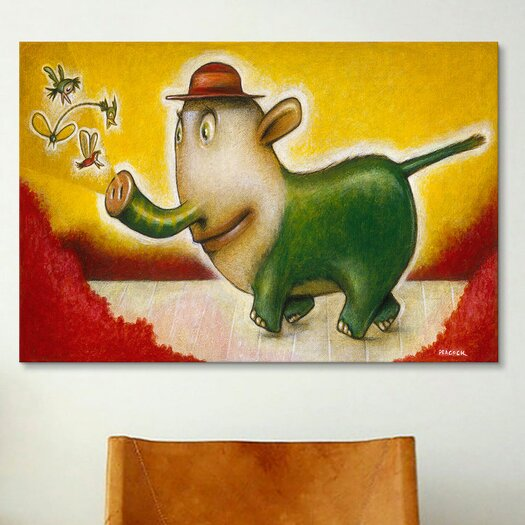 iCanvas 'Elephancy' by Daniel Peacock Painting Print on Canvas