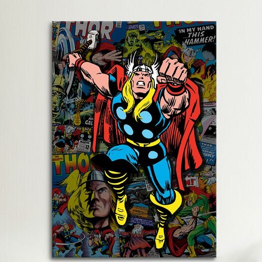 iCanvas Marvel Comics Thor Covers Collage #2 Graphic Art on Canvas
