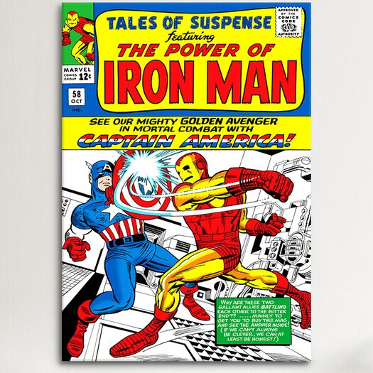 iCanvas Marvel Comics Book Iron Man Issue Cover 58 Graphic Art on Canvas