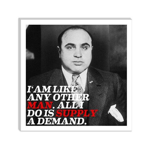 iCanvas Al Capone Quote Canvas Wall Art