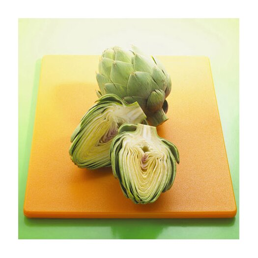 iCanvas Sliced Artichokes on a Board Photographic Canvas Wall Art
