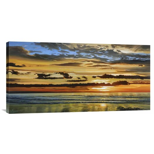 Bentley Global Arts 'Alba Sul Mare' by Adriano Galasso Painting Print on Canvas