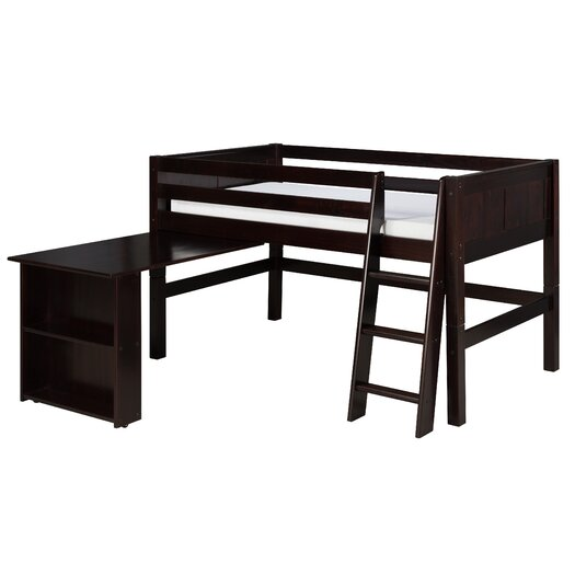 Camaflexi Camaflexi Twin Low Loft Bed with Retractable Desk