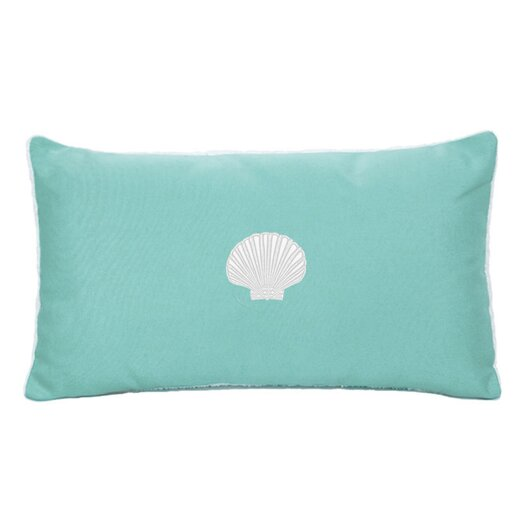 Nantucket Bound Scallop Beach Outdoor Sunbrella  Lumbar Pillow