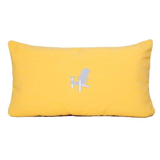 Nantucket Bound Adirondack Beach Outdoor Sunbrella Lumbar Pillow