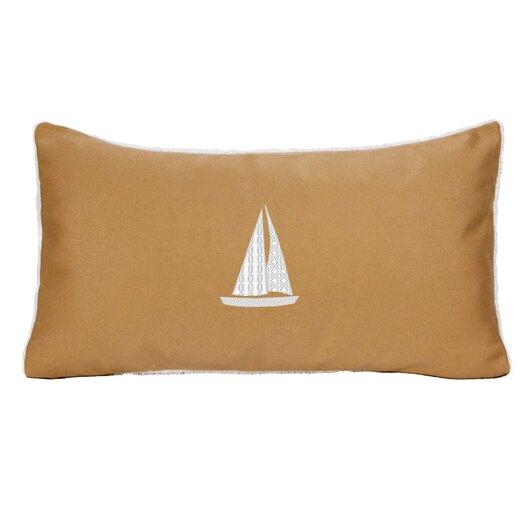 Nantucket Bound Sailboat Indoor/Outdoor Sunbrella Throw Pillow