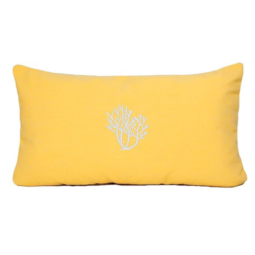 Nantucket Bound Coral Beach Sunbrella Outdoor Lumbar Pillow