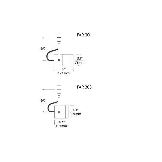 Tech Lighting Spot 1 Light 1-Circuit Incandescent Track Head