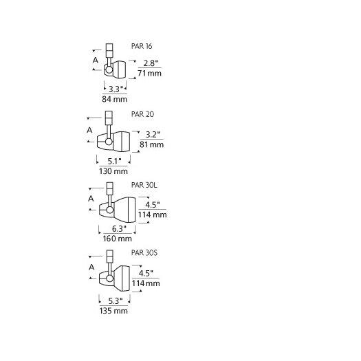 Tech Lighting Om Powerjack 1 Light Incandescent PAR16 Track Light Head