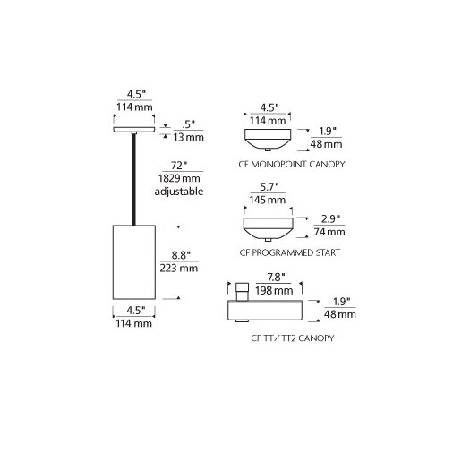 Tech Lighting Playa 2KD 2-Circuit 1 Light Mini Pendant